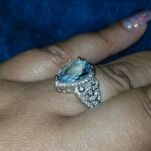Crystal Jewelry - Aquamarine silver ring